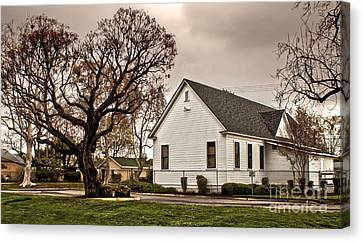 Chino Old School House - 02 Canvas Print by Gregory Dyer