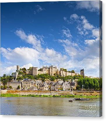 Chinon Loire Valley France Canvas Print by Colin and Linda McKie