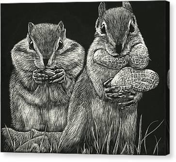 Chip 'n' Dale Canvas Print
