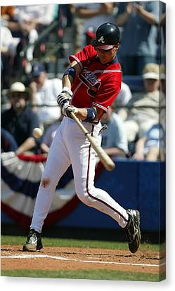Baseball Uniform Canvas Print - Chipper Jones Atlanta Braves by Retro Images Archive