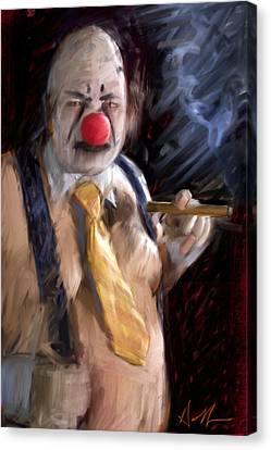 Chippy The Clown Canvas Print by H James Hoff