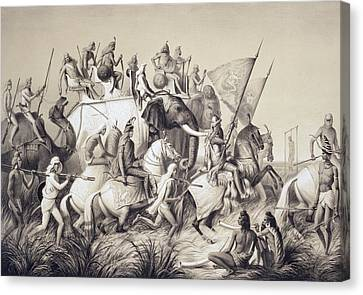 Chir Singh, Maharaja Of The Sikhs Canvas Print by A. Soltykoff