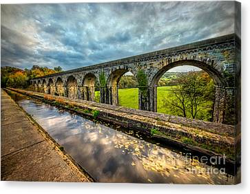 Chirk Aqueduct 1801 Canvas Print by Adrian Evans