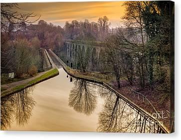 Chirk Aqueduct Canvas Print by Adrian Evans