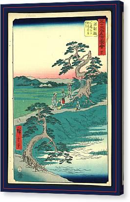 Chiryu, Ando Ca. 1855, 1 Print  Woodcut Canvas Print by Utagawa Hiroshige Also And? Hiroshige (1797-1858), Japanese
