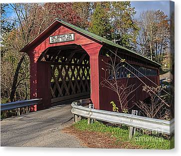 Chiselville Covered Bridge Canvas Print by Edward Fielding