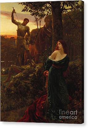 Chivalry Canvas Print by Sir Frank Dicksee