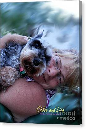 Chloe And Lisa Canvas Print by Angelia Hodges Clay