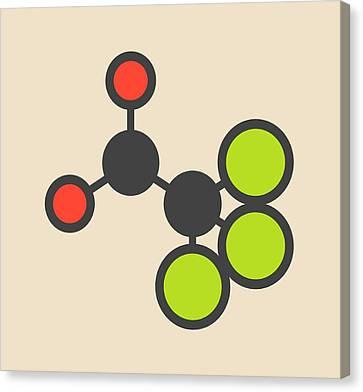 Chloral Hydrate Sedative Molecule Canvas Print