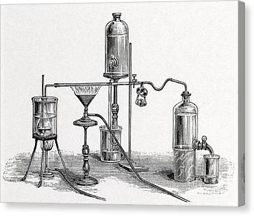Chloroform Analysis, 19th Century Canvas Print by Middle Temple Library