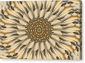 Canvas Print featuring the digital art Choco-latte by Lea Wiggins