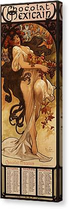 Chocolat Masson, 1897  Canvas Print by Alphonse Marie Mucha