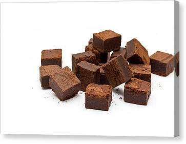 Chocolate Brownies Canvas Print by Mike Taylor
