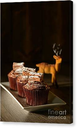 Chocolate Cakes For Christmas Canvas Print