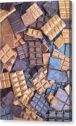 Chocolate Chaos Canvas Print by Tim Gainey
