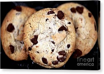 Chocolate Chip Cookies Canvas Print by John Rizzuto