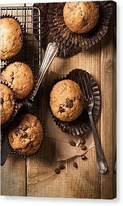 Chocolate Chip Muffins Canvas Print by Amanda Elwell