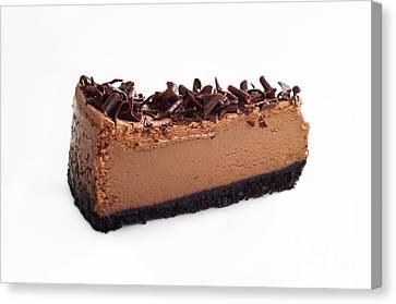 Chocolate Chocolate Cheesecake - Dessert - Baker - Kitchen Canvas Print by Andee Design