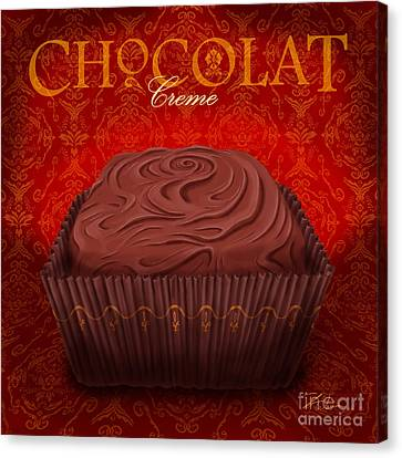 Chocolate Creme Canvas Print by Shari Warren