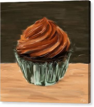 Chocolate Cupcake Canvas Print by Lourry Legarde