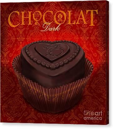 Chocolate Dark Canvas Print