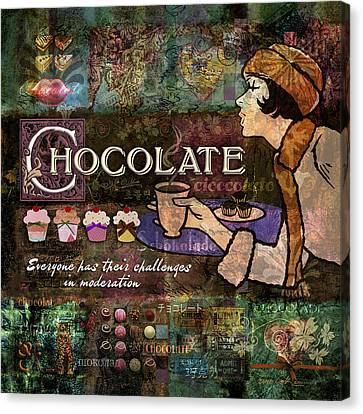 Chocolate Canvas Print - Chocolate by Evie Cook