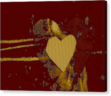 Chocolate-heart Canvas Print by Dorothy Rafferty