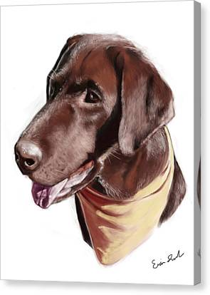 Chocolate Lab Canvas Print by Eric Smith