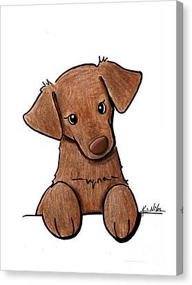 Chocolate Lab Canvas Print by Kim Niles