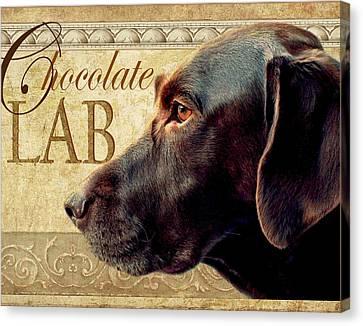 Chocolate Lab Canvas Print by Wendy Presseisen
