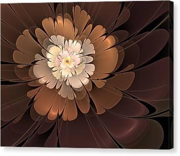 Canvas Print featuring the digital art Chocolate Lilly by Svetlana Nikolova