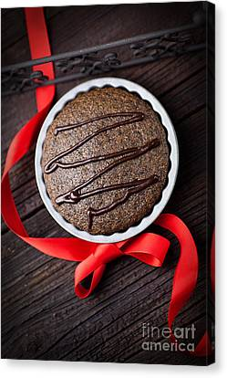 Chocolate Souffle Canvas Print by Mythja  Photography