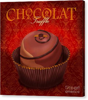 Chocolate Truffle Canvas Print by Shari Warren