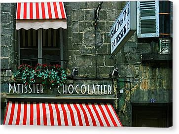 Chocolatier In Clermont Ferrand France  Canvas Print by Georgia Fowler