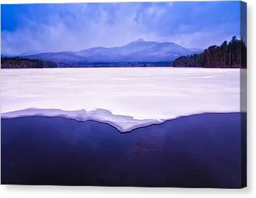 Mt Chocorua Canvas Print - Chocorua Reflected In Ice And Snow by Jeff Sinon