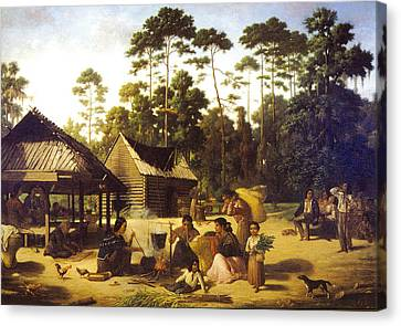 Choctaw Village Canvas Print