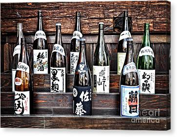 Choice Of Sake Canvas Print by Delphimages Photo Creations
