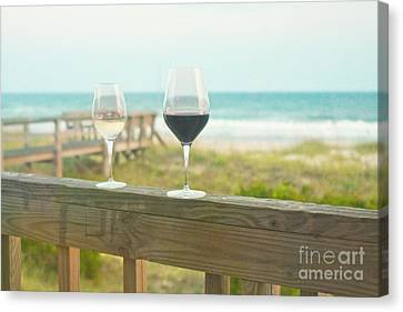 Choices At The Beach Canvas Print by Kay Pickens