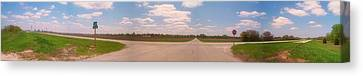 Choices At The Cross Roads Panorama Canvas Print by Thomas Woolworth
