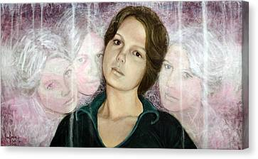Choices Portrait Of Eva Lynn Horton Canvas Print by Ron Richard Baviello