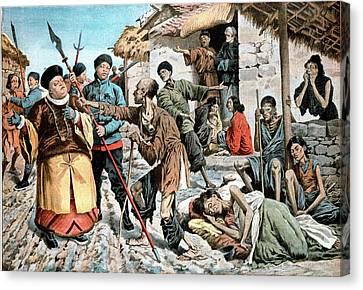 Cholera Amongst Famine Victims In China Canvas Print by Universal History Archive/uig