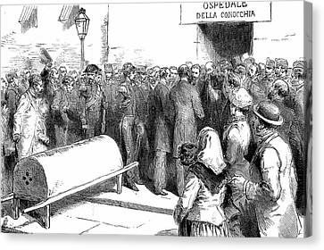 Cholera Epidemic In Naples Canvas Print