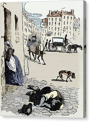 Toll House Canvas Print - Cholera In Paris by Sheila Terry