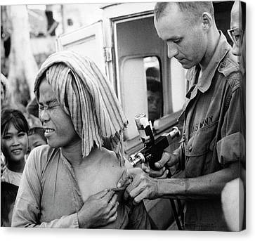 Cholera Vaccination In Vietnam Canvas Print by Us National Archives
