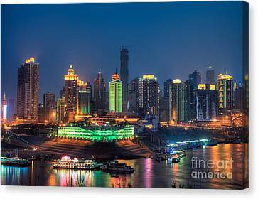 Chongqing City Skyline Canvas Print