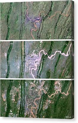 Chongqing Urban Spread Canvas Print by Planetobserver
