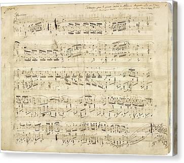 Chopin Polonaise Op 53 Canvas Print