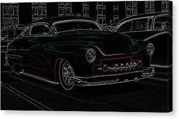 Chopped Merc Glow Canvas Print