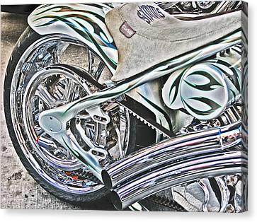 Chopper Belt Drive Detail Canvas Print by Samuel Sheats