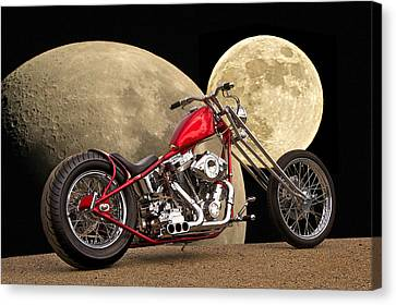 Chopper Two Moons Canvas Print by Dave Koontz
